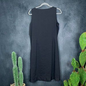 Eileen Fisher Dresses - CLEARANCE Eileen Fisher Linen Blend Black  Dress